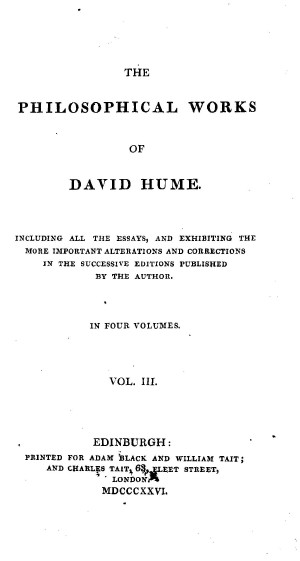 hume essays political 184 the economic thought of david hume david hume's views on economics are expressed in his essays, moral, political and literary, part i1 (1752.
