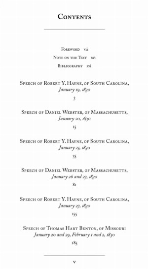 Online Library of Liberty - The Webster-Hayne Debate on the Nature ...
