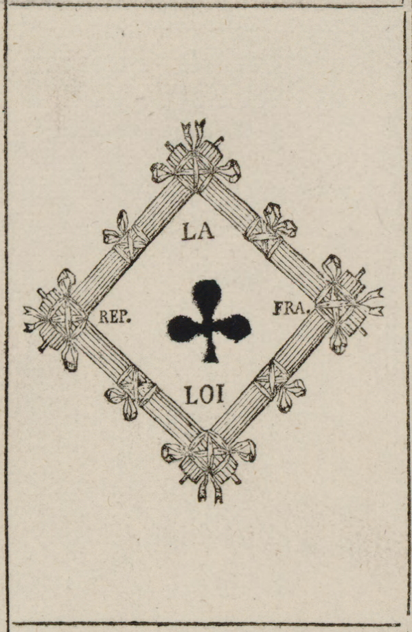 New Playing Cards For The French Republic (1793-94