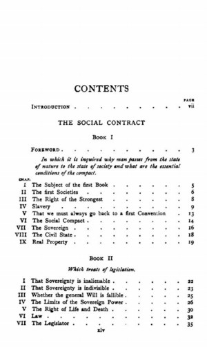 Introduction the social contract or principles of political right